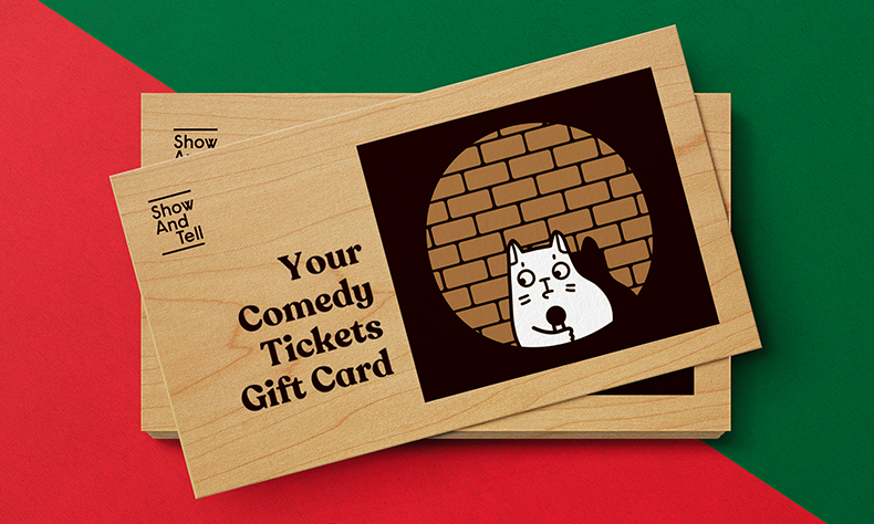 Wooden Gift Card and Christmas Card Set